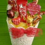 Vaso decorativo com chocolates